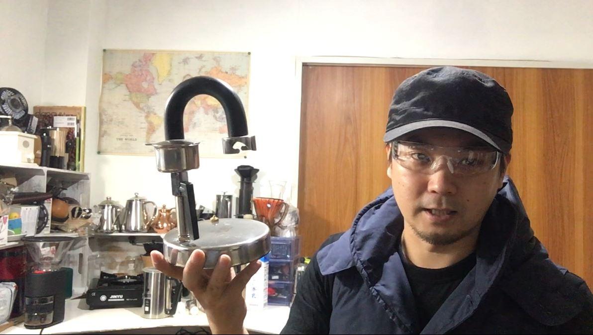 Kamira カミラ 直火式エスプレッソメーカー でミルクに直のせ!速攻!カフェラテもどき!?