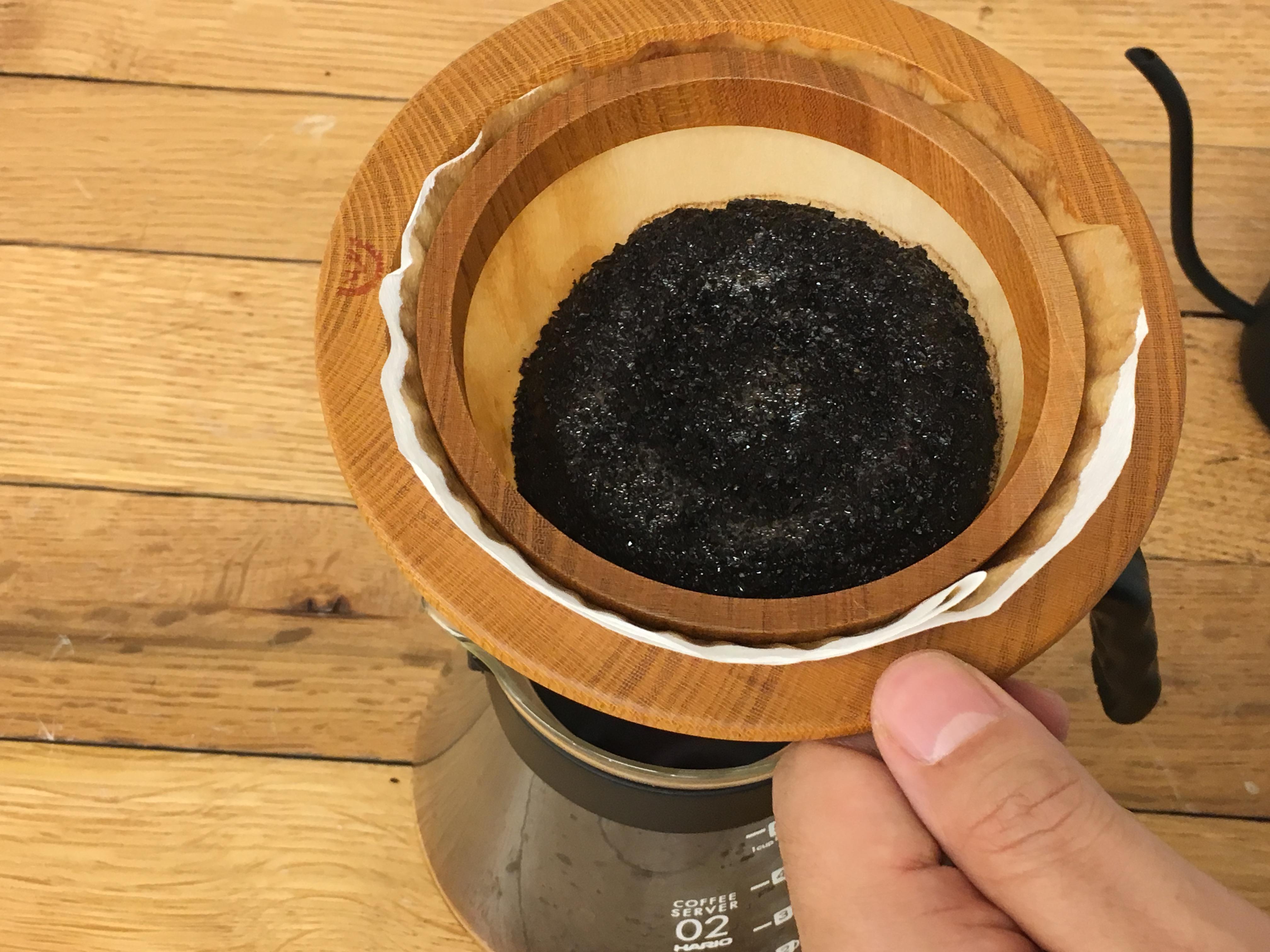 【コーヒードリップ】安清式紙落としドリッパー4人用で「希釈式コーヒードリップ」