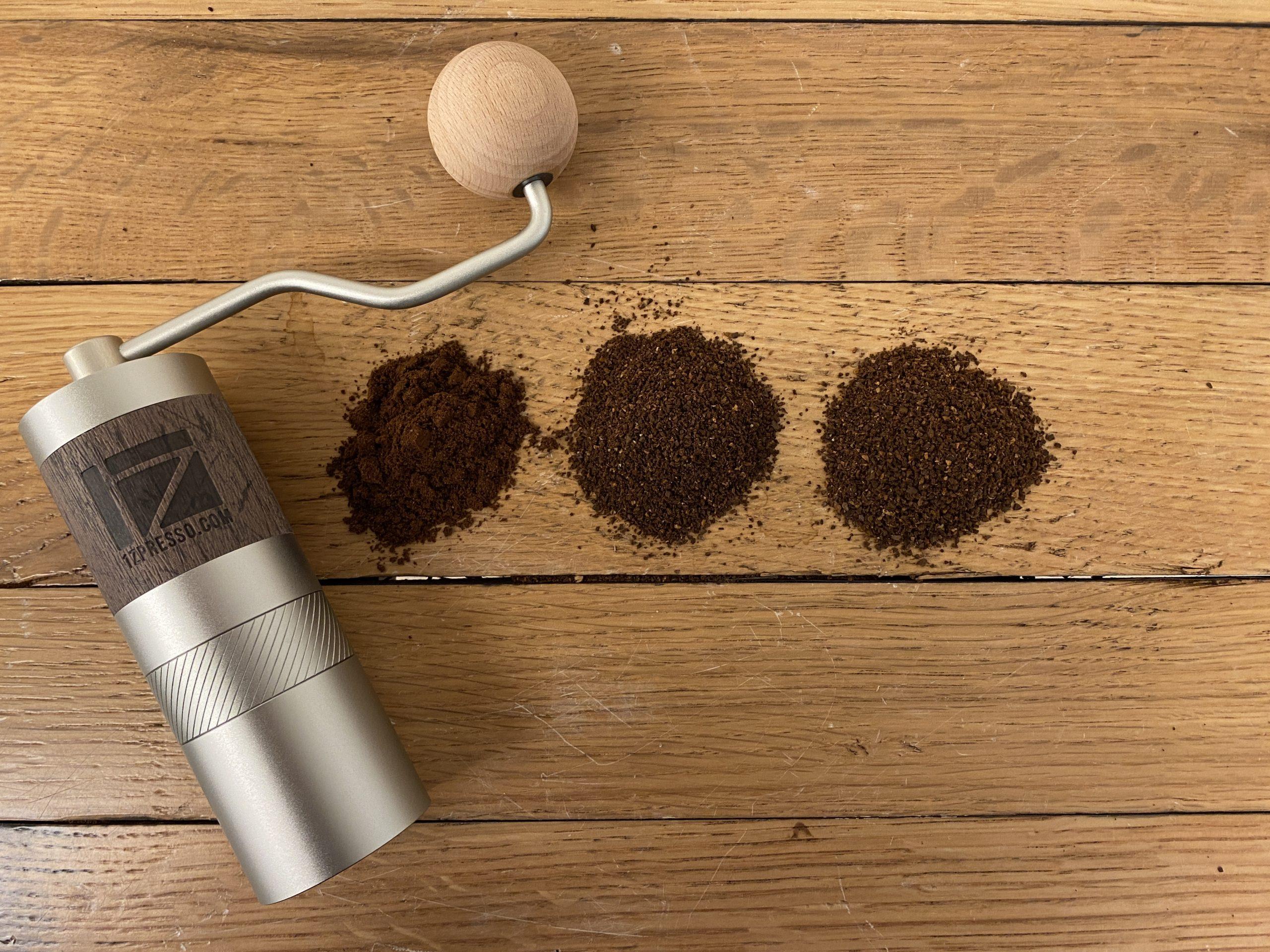 1ZPRESSO(ワンゼットプレッソ)コーヒーグラインダーQ2【LG-1ZPRESSO-Q2】試し切り。