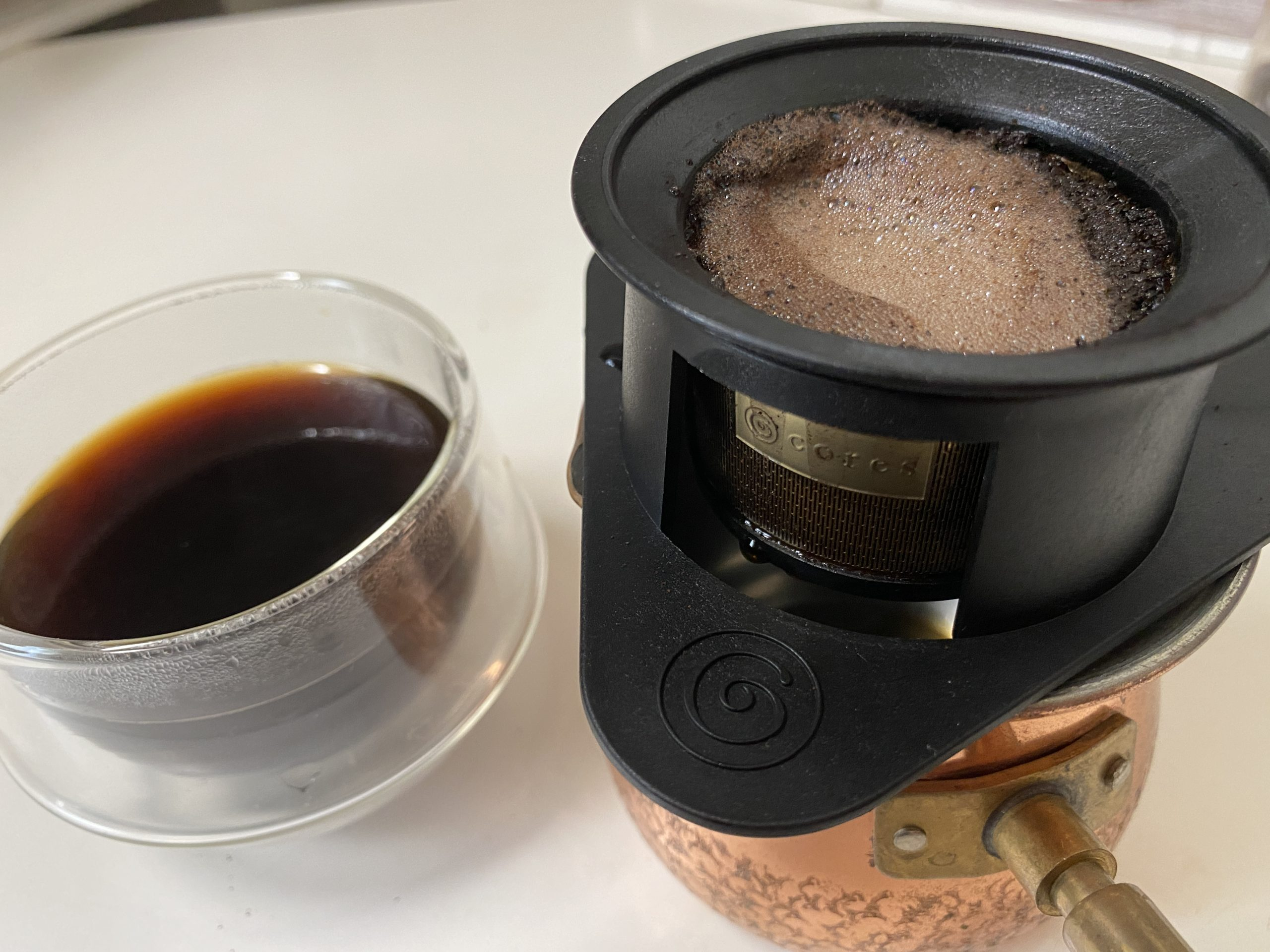 美味しいコーヒーを1人分!cores コレス シングルカップゴールドフィルター C211★ドリップの基本も!