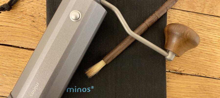 便利な挽き目調整!minos ミノス マニュアルコーヒーグラインダー試し切り。手挽きコーヒーミル